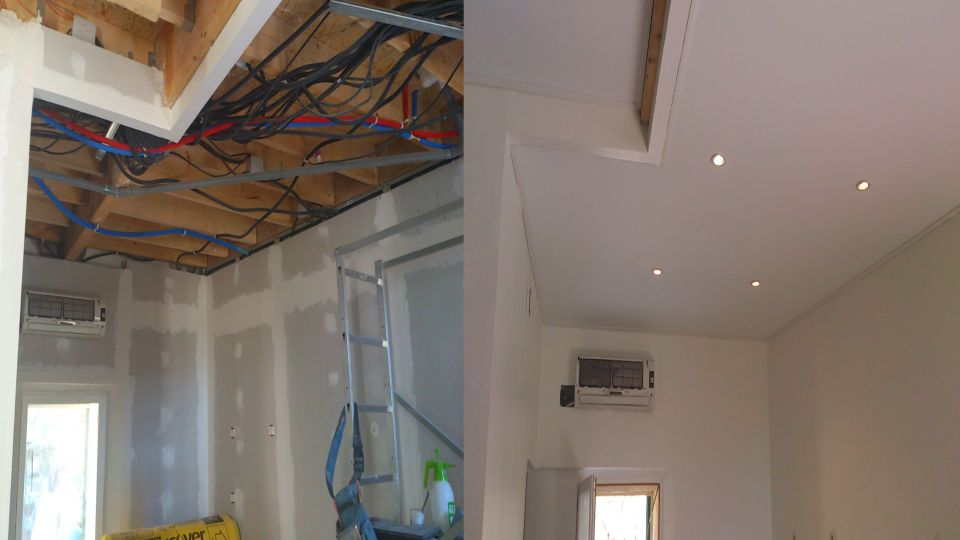 Same day installtion and stretch ceiling